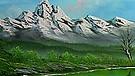 Landschaftsbild von Bob Ross - Mountain Lake Falls | Bild: BR/Bob Ross Company