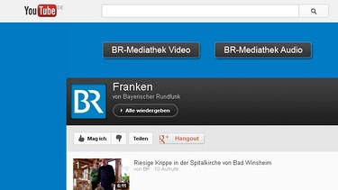 Screenshot der Franken-Playlist auf dem BR-Youtube-Channel | Bild: Youtube.com/BR