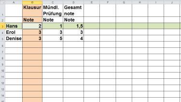 Grips mathe 40 einf hrung in die tabellenkalkulation for Tabelle 7 spalten
