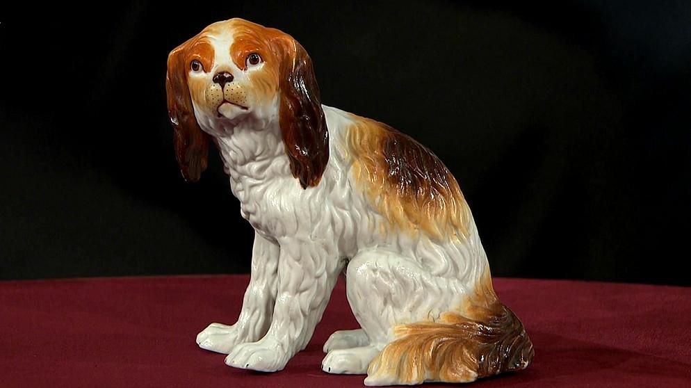wachtelhund auf der jagd nach dem wei en gold porzellan schatzkammer kunst krempel br. Black Bedroom Furniture Sets. Home Design Ideas