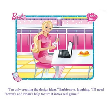 Ausschnitt aus dem Buch Barbie- I can be a Computer Enginerr | Bild: Screenshot computer-engineer-barbie.herokuapp.com