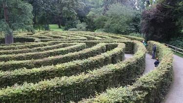 der richtige weg der irrgarten im park sch nbusch in aschaffenburg bayern genie en zeit f r. Black Bedroom Furniture Sets. Home Design Ideas