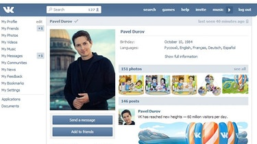 Screenshot vk.com | Bild: Screenshot vk.com