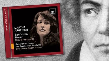"CD-Cover: ""Martha Argerich - Beethoven - Mozart"", Komponist Ludwig van Beethoven 