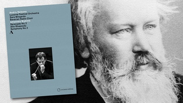 "CD-Cover ""Serenade No.2"" mit Andris Nelsons, Komponist Johannes Brahms 
