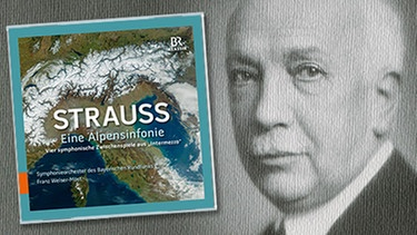"CD-Cover: ""Richard Strauss - Eine Alpensinfonie"", Komponist Richard Strauss 