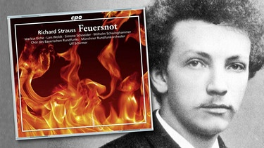 "CD-Cover: ""Feuersnot"", Komponist Richard Strauss 