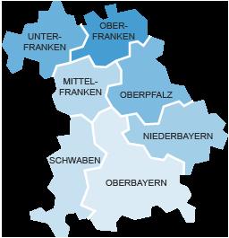 Regionen Bayerns