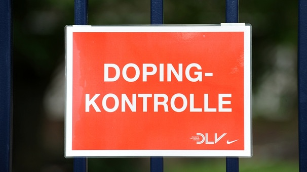 Schild Doping Kontrolle | Bild: picture-alliance/dpa