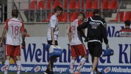 Enttäuschte Regensburger nach der Niederlage | Bild: imago/Walter Baehnisch
