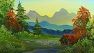 Landschaftsbild von Bob Ross. | Bild: BR/Bob Ross Company