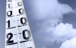 Thermometer vor Wolkenhimmel © Getty Images, dpa, Montage: BR