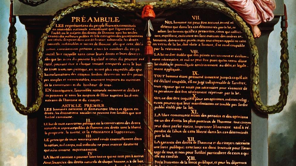 Französische Revolution Die Erklärung Der Menschen Und