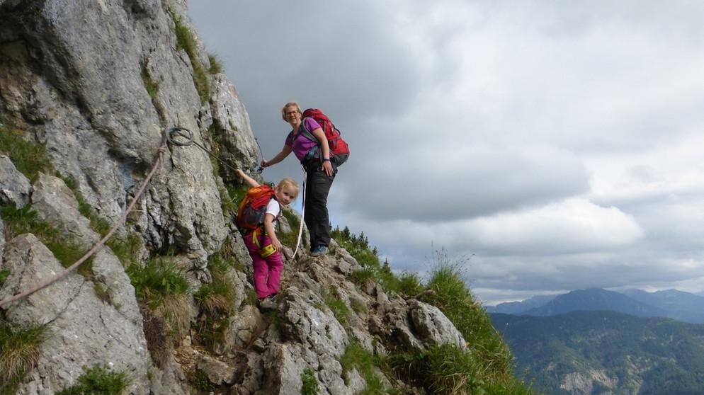 Klettersteig Tegernsee : Die tegernseer hütte aufstieg mit kindern in den bayerischen