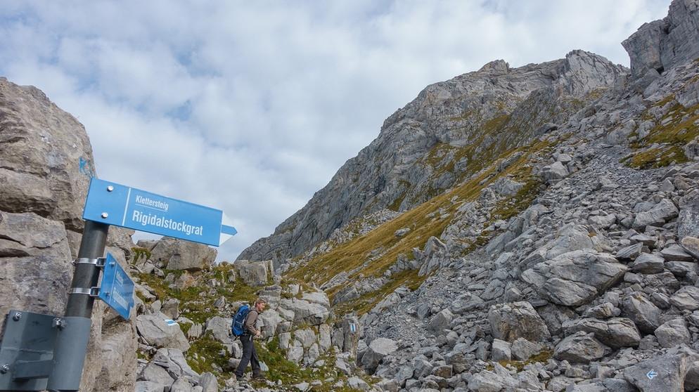 Klettersteig Rigidalstock : Über dem schweizer nebel klettersteig auf den rigidalstock bei