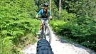 Mountainbiker in den Alpen | Bild: BR