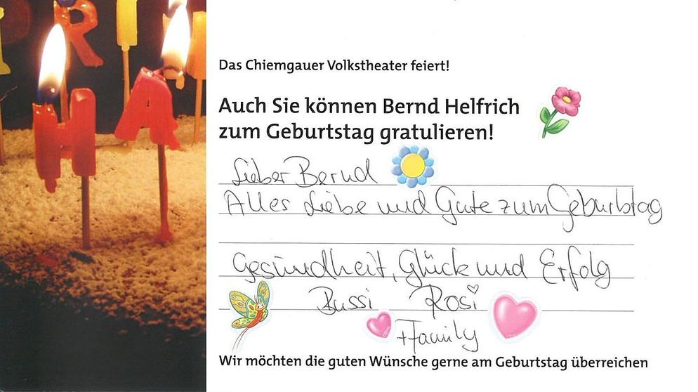 Bayrisch geburtstagsglückwünsche auf Geburtstag Plattdeutsch