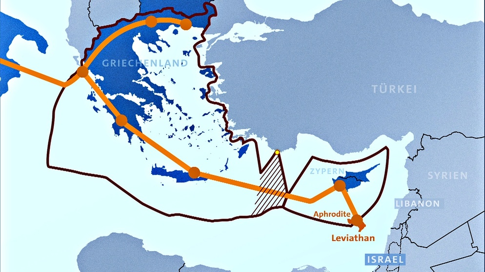 Mittelmeer Karte Europa.Mittelmeer Israelisches Gas Fur Europa Euroblick Br