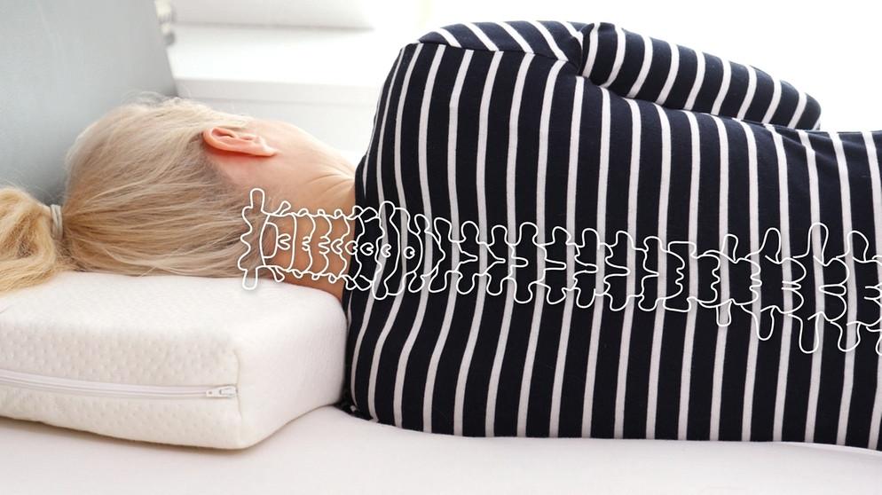verspannter nacken kissen check das perfekte kopfkissen gesundheit br fernsehen. Black Bedroom Furniture Sets. Home Design Ideas