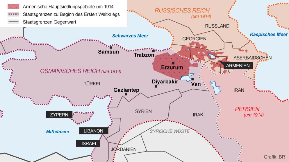 Osmanisches Reich Karte 1914.Infografik Armenier Im Osmanischen Reich Hauptsiedlungsgebiete
