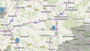 Oberfranken Karte.Reformationsjubiläum Zwölf Worte Zwölf Orte Stationen Br