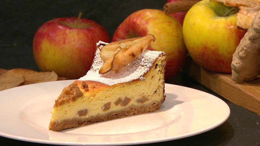Wir In Bayern Rezepte Kasekuchen Mit Apfel Und Ingwer Rezepte