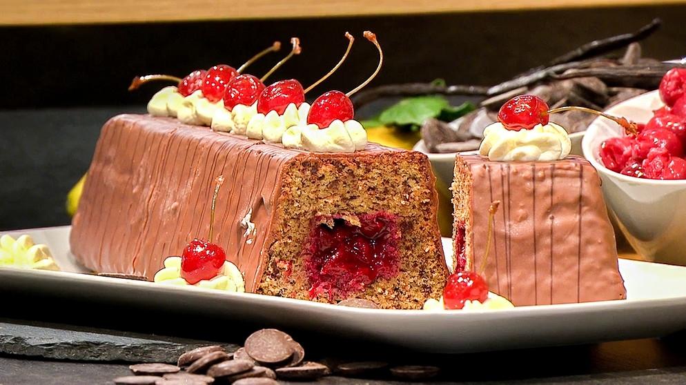 Wir In Bayern Rezepte Schoko Nuss Kuchen Mit Kirschfüllung