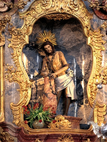 Wieskirche; Jesus in Ketten; | Bild: picture-alliance/dpa