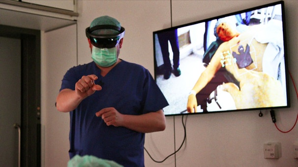 Hospital Holo – Augmented Reality bei OPs. | Bild: BR