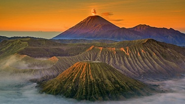 Asien, Indonesien, Java, Vulkane im Bromo-Semeru Nationalpark | Bild: picture-alliance/dpa