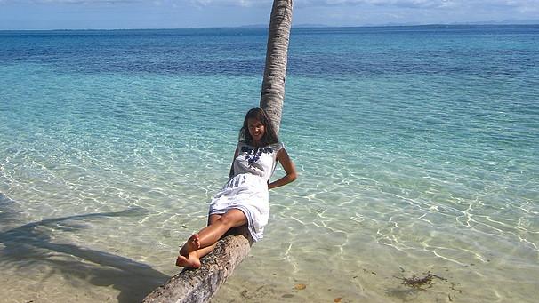 Marion Sandner auf den Fidschi-Inseln   Bild: Marion Sandner