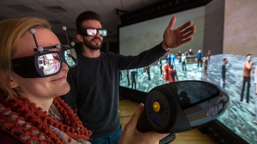 Virtual Reality Lab Uni Weimar | Bild: picture-alliance/dpa