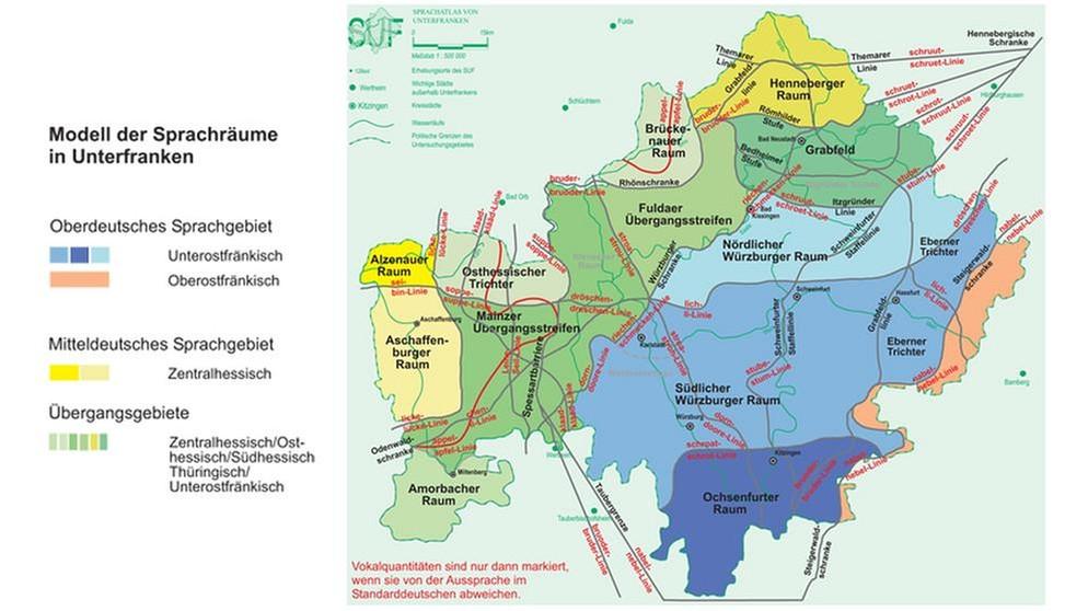 Unterfranken Karte.Dialektforschung Kauderwelsch Nur Für Auswärtige Kultur