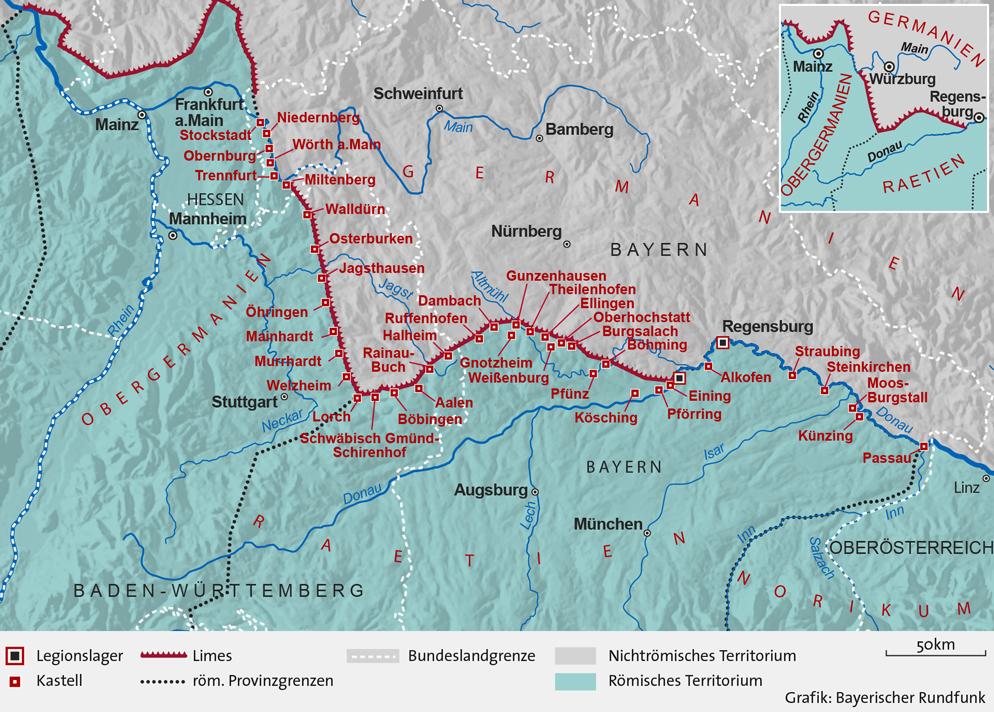 Limesverlauf Deutschland