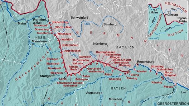 Römisches Reich Karte.Limes Bei Miltenberg Römisches Reich Größer Als Vermutet