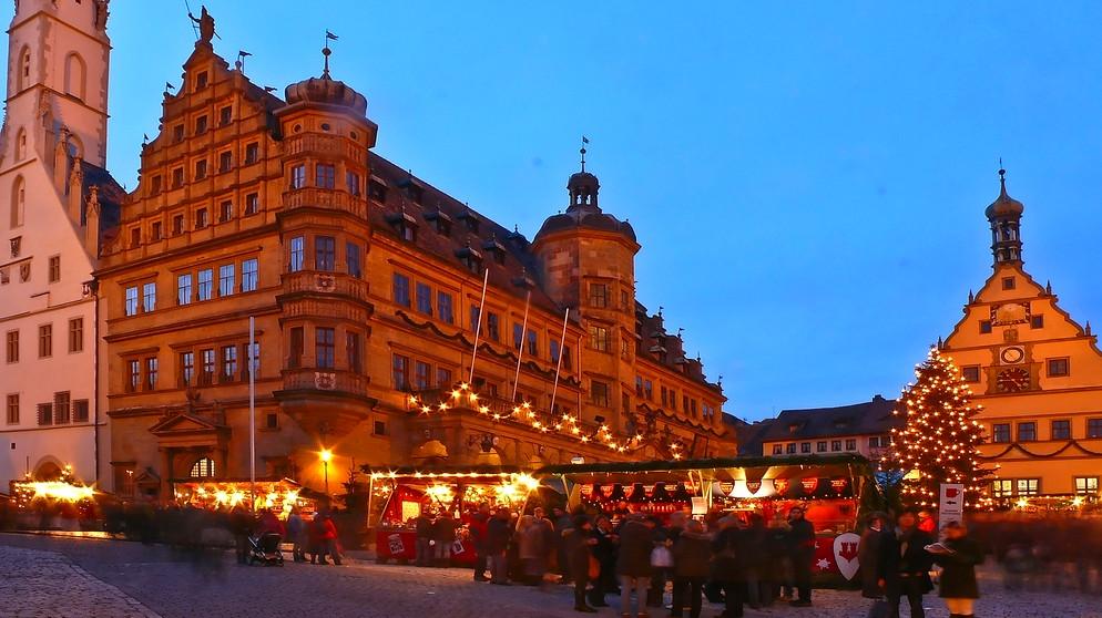 Weihnachtsmarkte In Franken Reiterlesmarkt In Rothenburg Ob