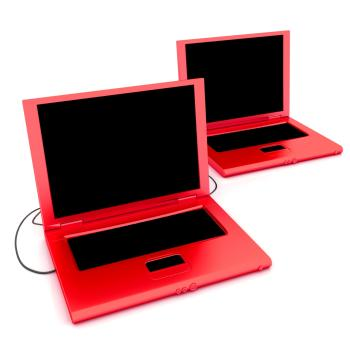 Rote Laptops | Bild: colourbox.com