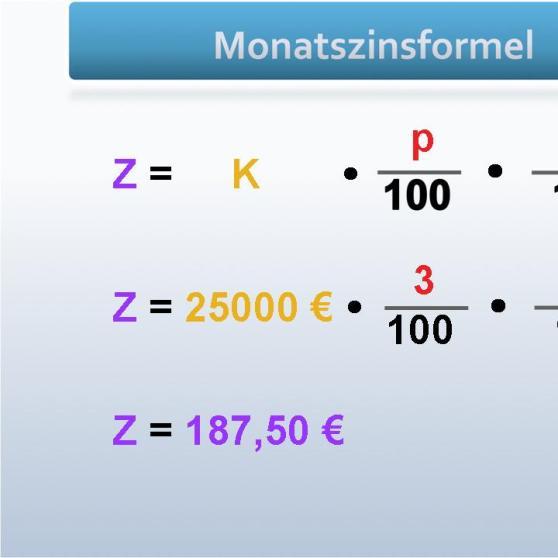 Grips Mathe 14 Berechnung Der Monatszinsen Grips Mathe Grips