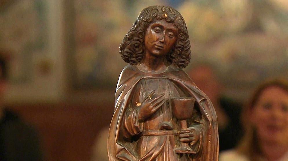 Kunst Krempel apostel johannes bartlos und barfuß skulpturen schatzkammer