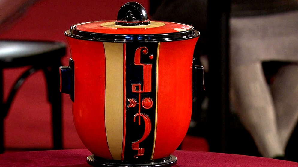 bowlentopf strahlendes rot keramik schatzkammer kunst krempel br fernsehen. Black Bedroom Furniture Sets. Home Design Ideas