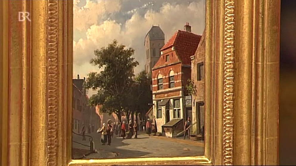 Straßenszene: Kabinettstück mit Atmosphäre | Gemälde | Schatzkammer ...