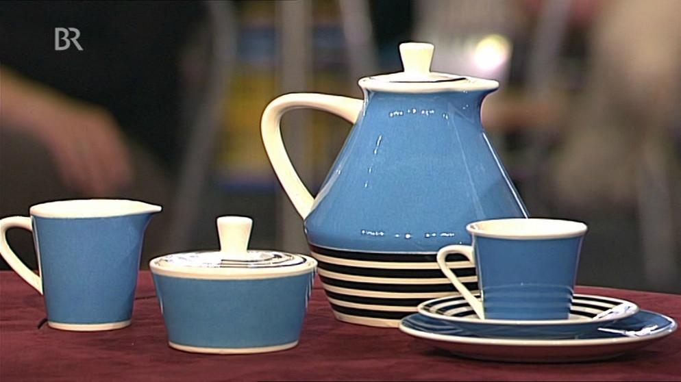 keramik geschirr geringelte b rbel design schatzkammer kunst krempel br fernsehen. Black Bedroom Furniture Sets. Home Design Ideas