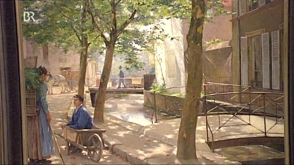 Straßenszene: Stimmungsvolle Ruhe | Gemälde | Schatzkammer | Kunst + ...