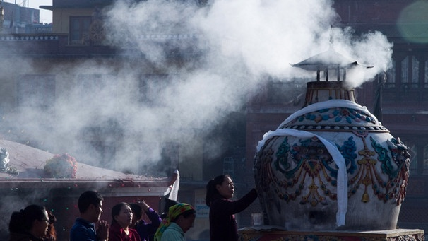 Losar in Tibet | Bild: picture-alliance/dpa