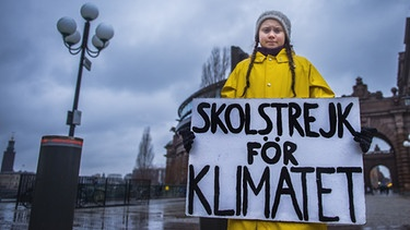 Greta Thunberg in Stockholm | Bild: picture alliance/TT NEWS AGENCY