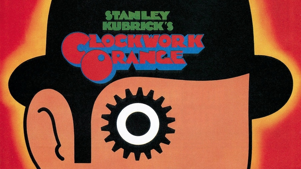 "Filmplakat von ""A Clockwork Orange"" von Stanley Kubrick. 