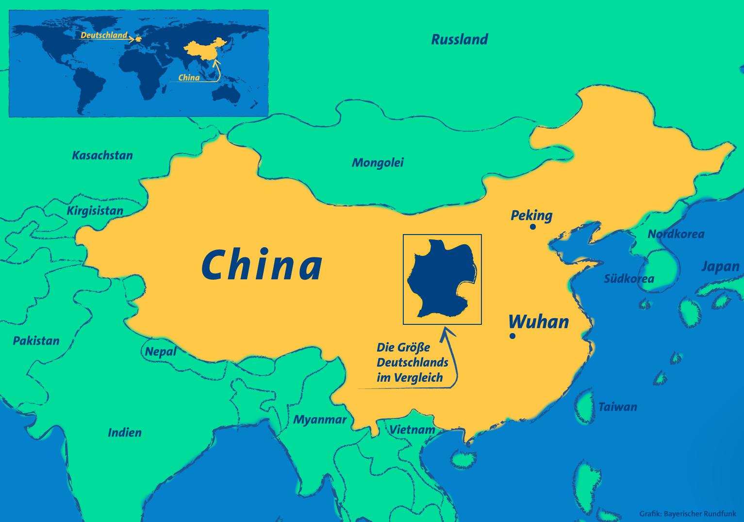 China Hier Liegt Die Chinesische Stadt Wuhan Klaro Horen Br