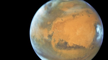 Der rote Planet Mars | Bild: picture-alliance/dpa/NASA