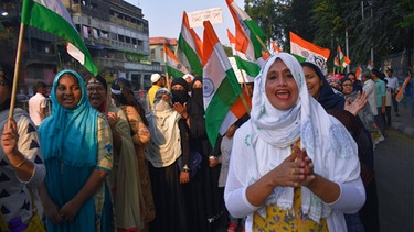 Frauen protestieren in Indien gegen den Citizen Amendment Act CAA  | Bild: Sudipta Das/Pacific Press