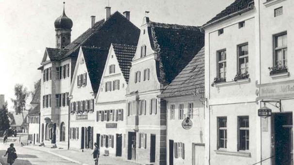 Die Donauwörther Straße in Buttenwiesen, ca. 1920/30 | Bild: Sammlung Franz Xaver Neuner, Buttenwiesen